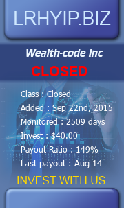 lrhyip.biz - hyip wealth code inc
